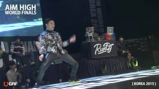 AIM HIGH KOREA 2015 / Round of 16 - Street battle 4 / Wizzard vs Yumeki