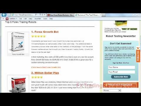 Forex Robot Reviews - The Top 5 Best Forex Robots