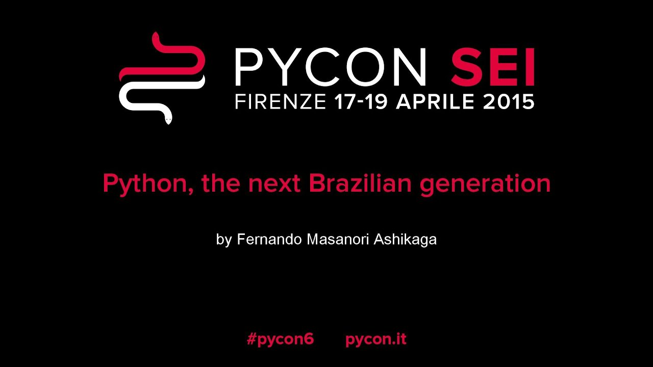 Image from Python, the next Brazilian generation