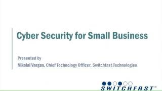 Webinar: Cyber Security for Small Business