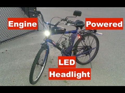 Motorized Bicycle white wire LED headlight causes power loss? on