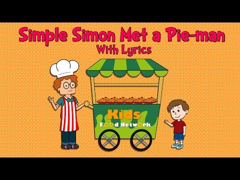 Simple Simon met a Pie man With Lyrics | Nursery Rhymes | Animated Songs for Children