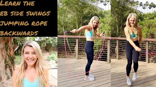Learn how to EB side swing jumping rope backwards
