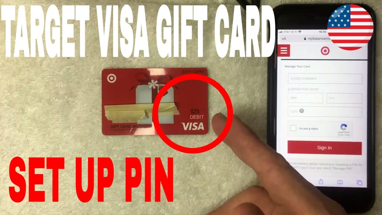 ✅ How To Set Up PIN On Target Visa Gift Card 🔴