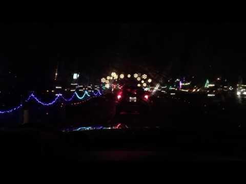 Christmas lights dancing to music