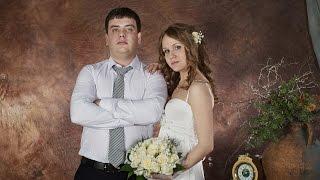 Свадебная фотосессия Ирины и Германа в фотостудии (слайд-шоу)