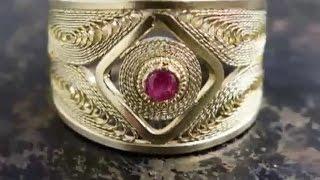 Ювелирная работа. Филигранное кольцо из серебра