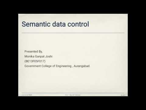 Semantic Data Control (BE13F05F017)
