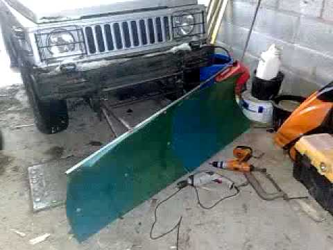 Jeep Wrangler Snow Plow >> home made snowplow.. - YouTube
