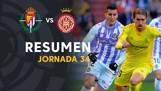 Resumen de Real Valladolid vs Girona FC (1-0)
