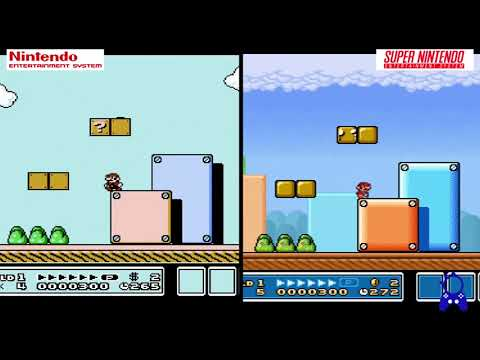 Super Mario Bros 3 Nes Vs Snes Comparaciones Graficas Youtube