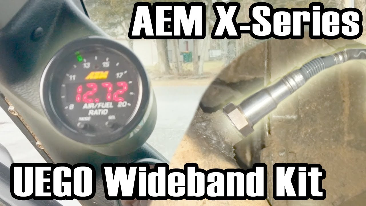 small resolution of aem x series wideband uego kit install