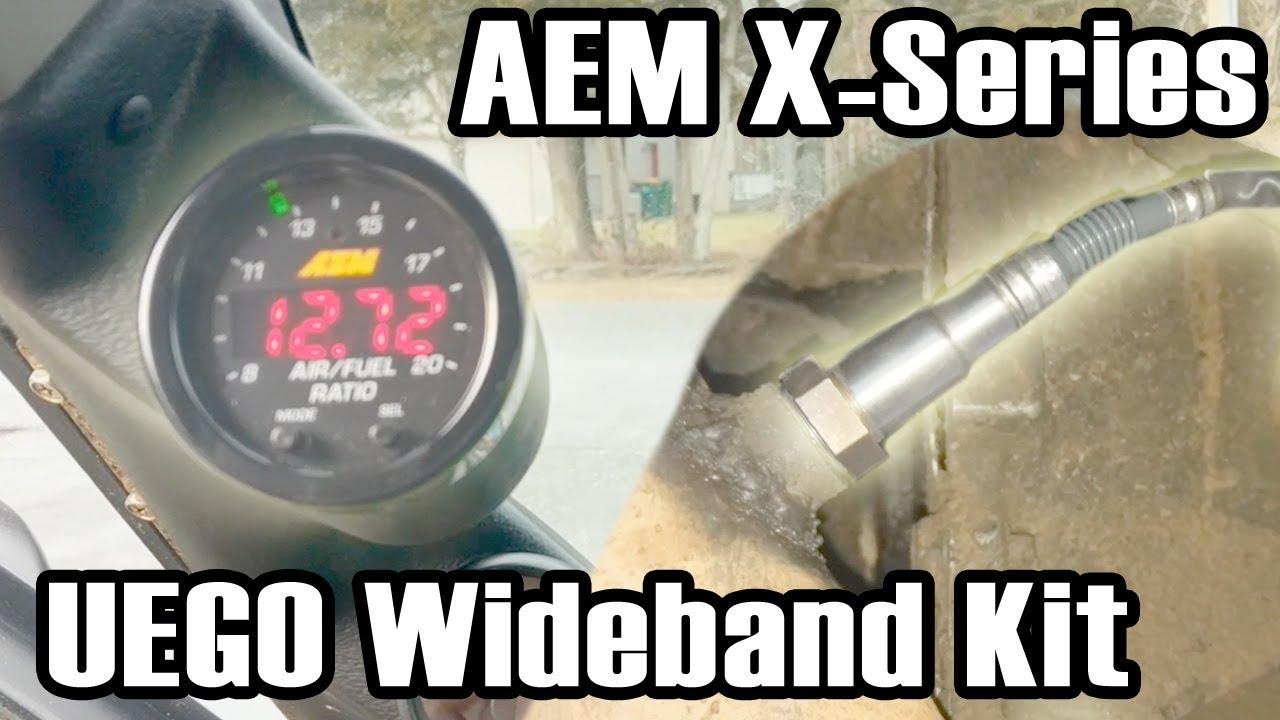 aem x series wideband uego kit install [ 1280 x 720 Pixel ]