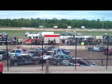 Canandaigua Demolition Derby 1st heat
