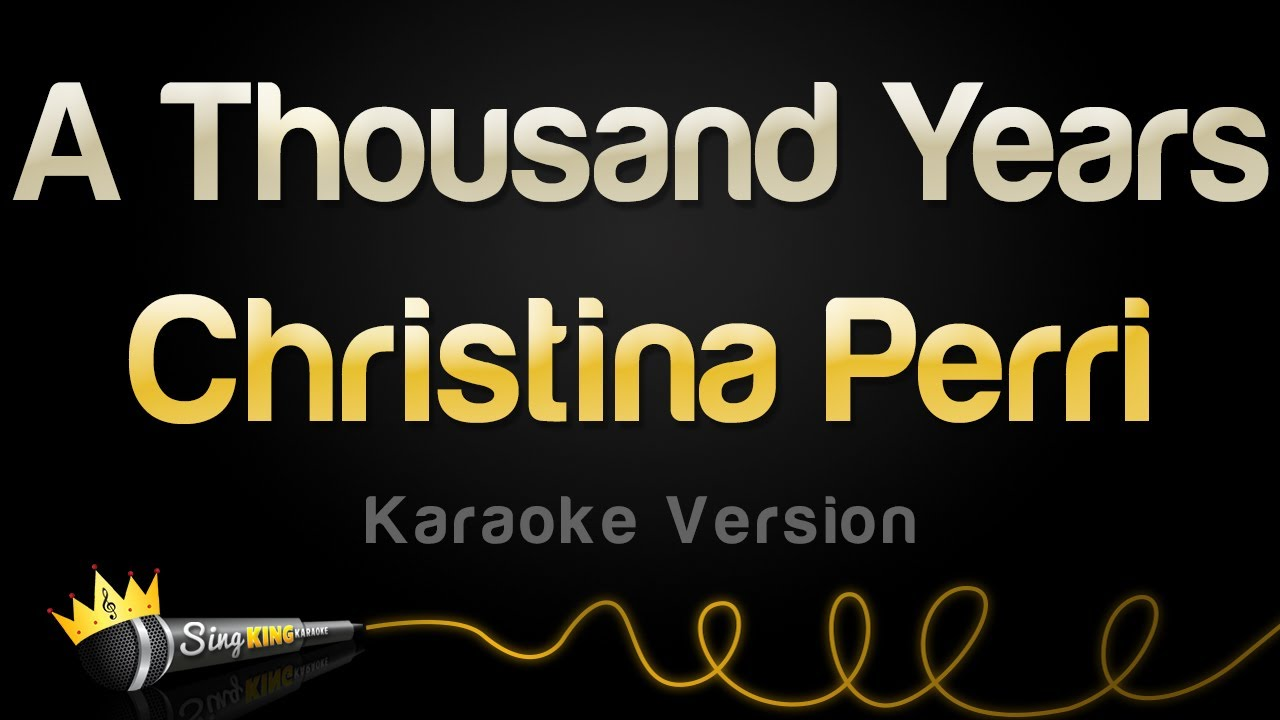 A Thousand Years (Valentine's Day Karaoke) - YouTube