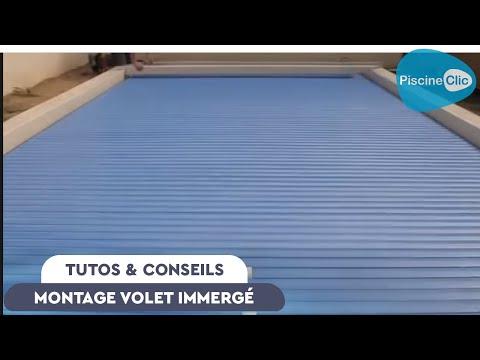 Montage d 39 un volet immerg de piscine eca youtube for Montage fenetre p v c