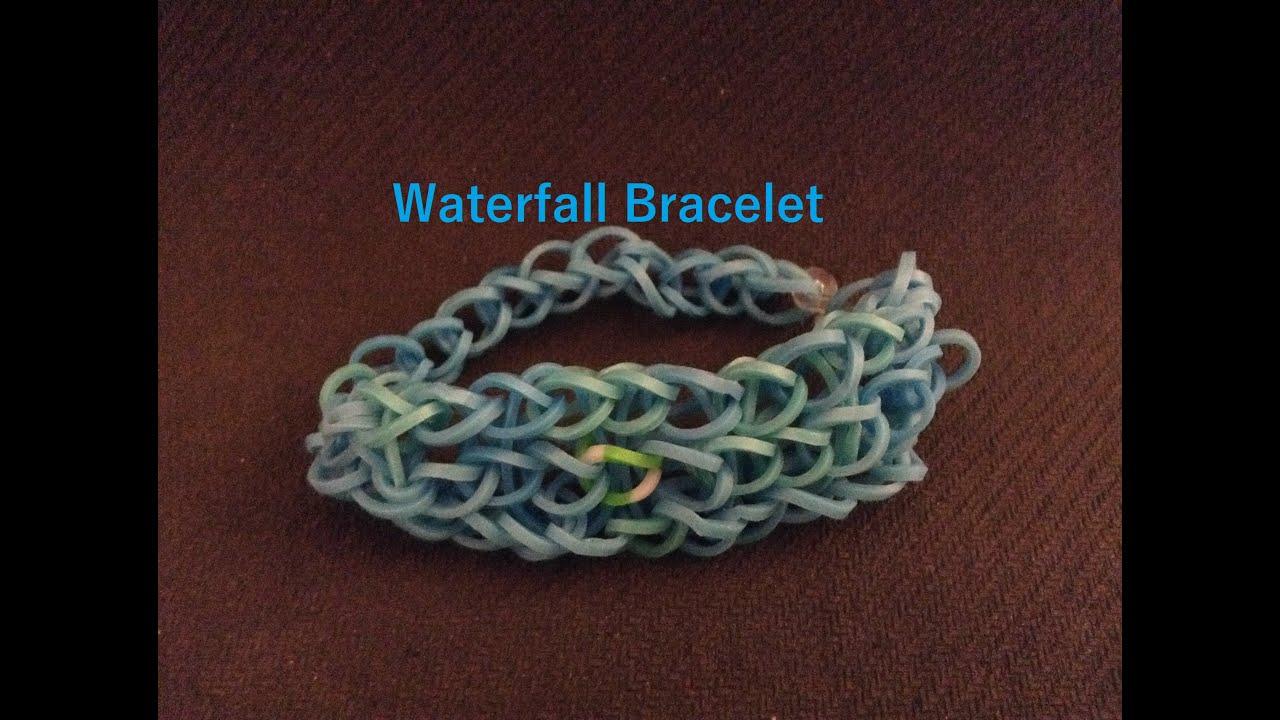 how to make a waterfall bracelet rainbow loom