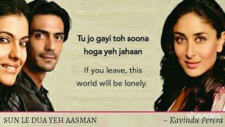 Sun Le Dua Yeh Aasman | Lyrics Translation | We Are Family (2010) | Arjun Rampal, Kareena Kapoor