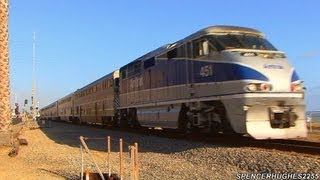 Amtrak & Metrolink Trains in San Clemente, Capistrano Beach & Dana Point, CA (June 15th, 2013)
