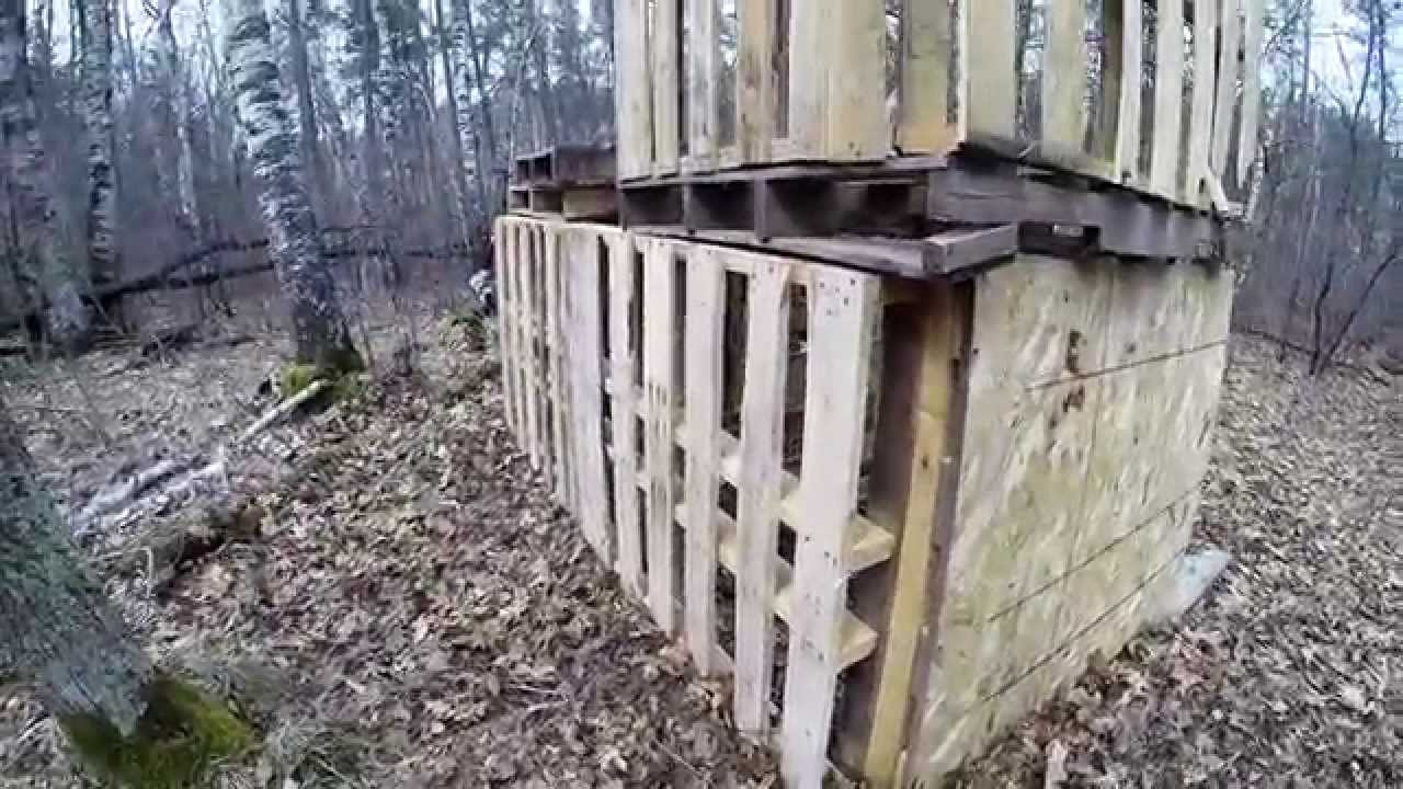 Cool airsoft fort made from pallets part 1 youtube for How to make a fort out of wood