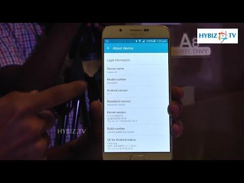 Samsung Galaxy A8 Hands On Overview - Hybiz.tv