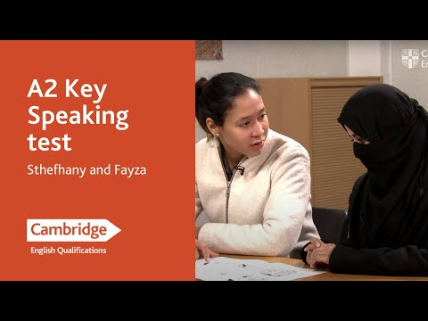 A2 Key speaking test (from 2020) - Sthefhany and Fayza