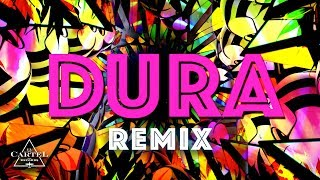 Daddy Yankee Dura (REMIX) ft. Bad Bunny, Natti Natasha & Becky G (Lyric Video)