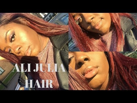 HOW I DYED MY HAIR BURGUNDY ALI JULIA HAIR FROM AMAZON REVIEW