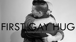 First Gay Hug (A Homophobic Experiment) | First Kiss Video