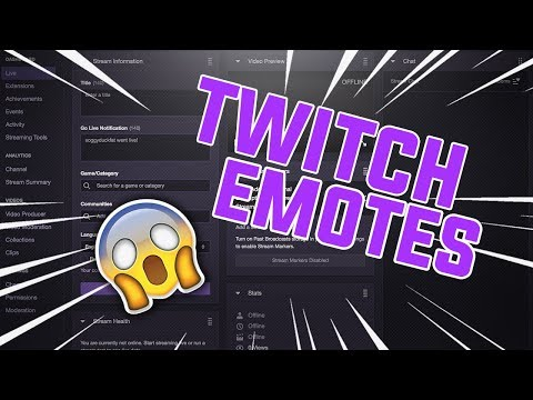 Twitch Tips - How To Set Up Twitch Emotes