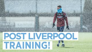 FIRST TEAM TRAINING | SNOW DAY AT THE CFA