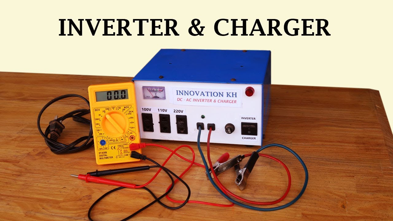 How To Make Inverter 12v Ac 100v 110v 220v And Auto Cut Off Dc Converter Circuit Diagram On Schematic Charged Two In One