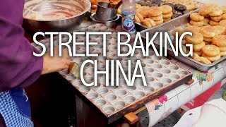 Inside a Chinese Street Bakery - Chinese Street Food - Mahua 麻花