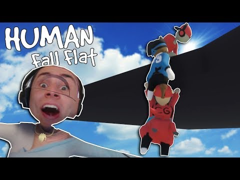 I Pushed My Friends Off a Cliff & Laughed! - Human Fall Flat Multiplayer Gameplay |