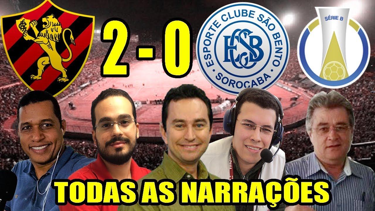 Todas as narrações - Sport 2 x 0 São Bento | Brasileirão Série B 2019