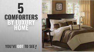 Top 10 Luxury Home Comforters [2018]: Madison Park - Palmer 7 Piece Comforter Set - Natural - Queen