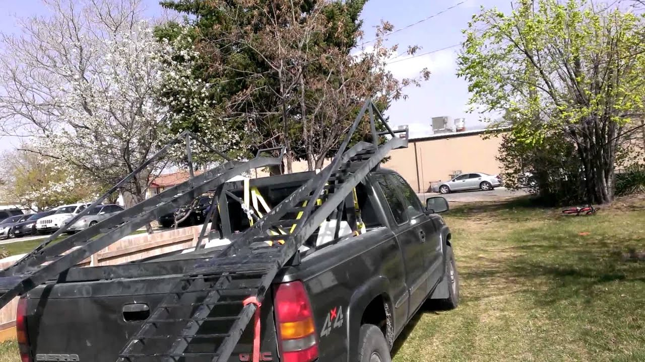 Kayak Racks For Pickup Trucks >> Rzr 4 1000 truck bed rack part 2 - YouTube