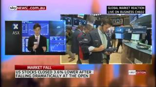 Market Fall - Sky News Business Live from ASX with Sky News Reporter Carrington Clarke