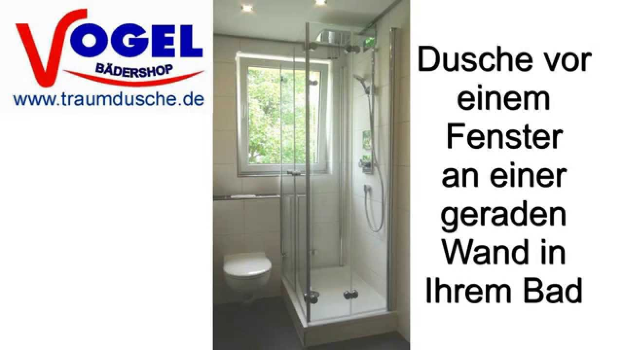 dusche vor fenster f r kleine b der youtube. Black Bedroom Furniture Sets. Home Design Ideas