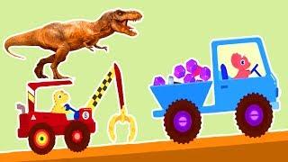 Машинка Вилли на планете динозавров. Динозавр для детей Экскаватор и спецтехника мультик Машинки