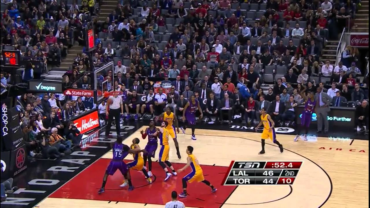 Jeremy Lin's Offense & Defense Highlights 2015-03-28 Lakers VS Raptors 1080P