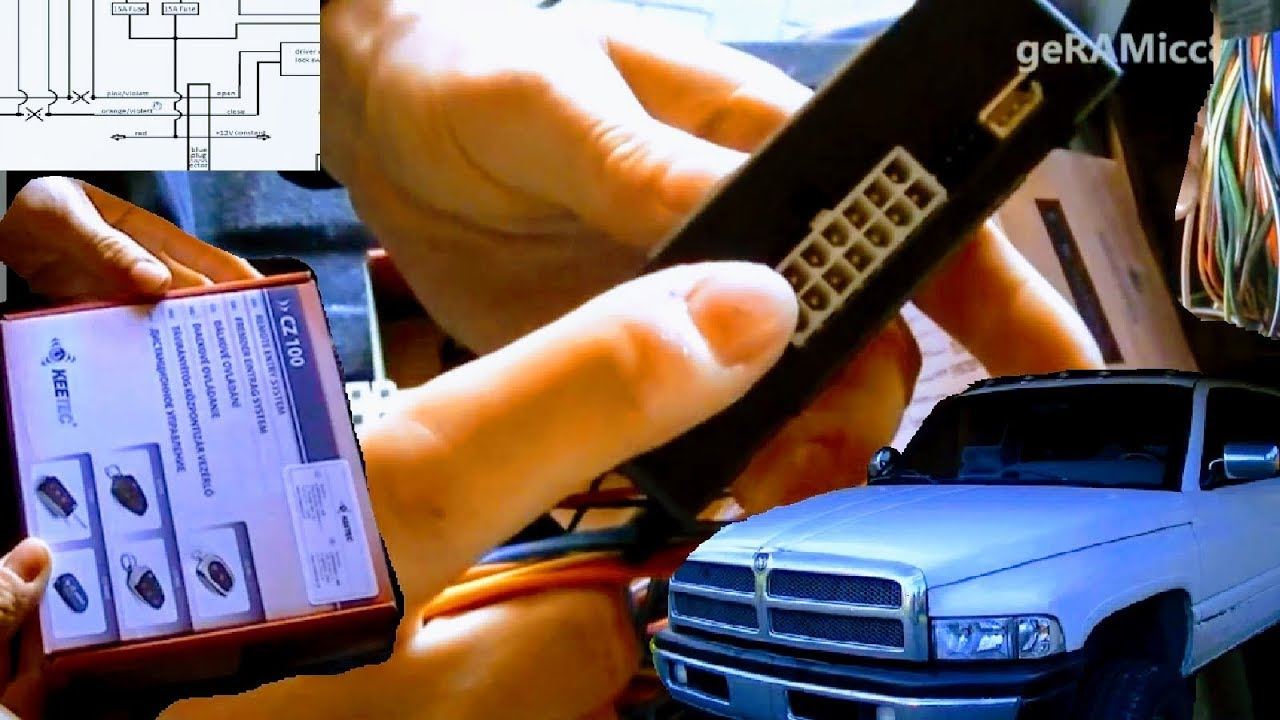 maxresdefault how to install keyless contactless entry dodge ram keetec cz 100 2004 dodge ram 1500 remote start wiring diagram at soozxer.org