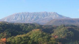 伯耆大山登山(弥山)鳥取 伯耆富士  下山駐車場から夏山登山道で 山頂には霧氷が