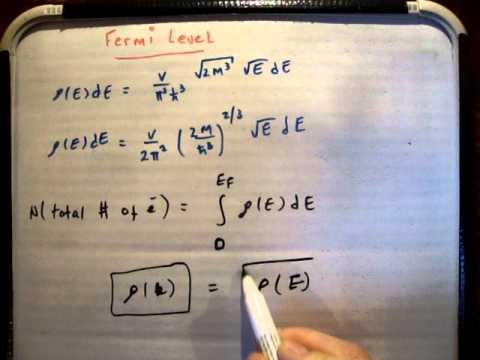 Quantum Statistics 33 b: Derivation of Fermi Level / Energy (2/2)