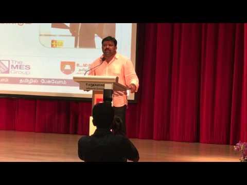 Neeya Naana Gobinath Speech - Singapore Tamil Language Festival 2016 Part 1