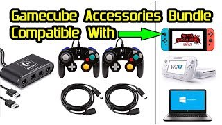 Gamecube Accessories Bundle for Nintendo Switch / Wii U / PC by DACCKIT