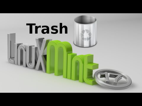 Empty Trash through command line terminal in Linux Mint (Ubuntu)