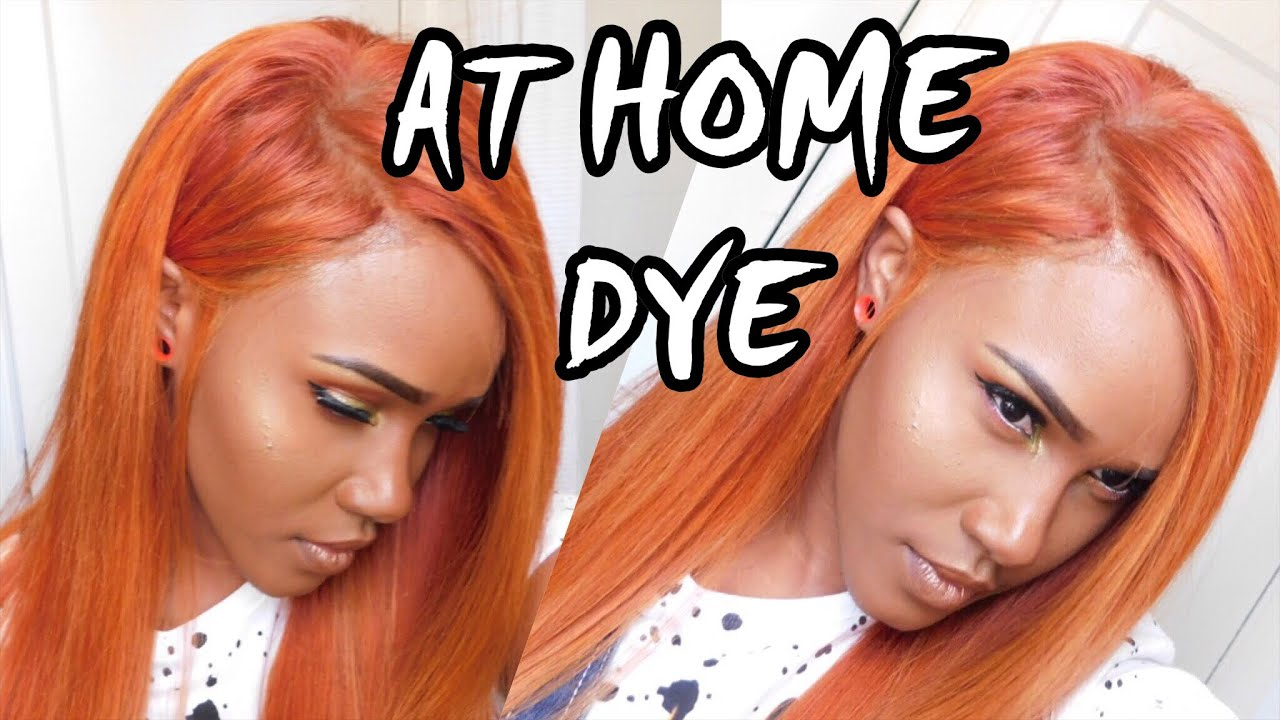 Dye Hair Red Copper With Blonde Highlights At Homelacefront Wig Diy