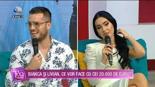 Teo Show(27.07.2020) - APARITIE INCENDIARA! Bianca si Livian, ce vor face cu cei 20.000 de euro?