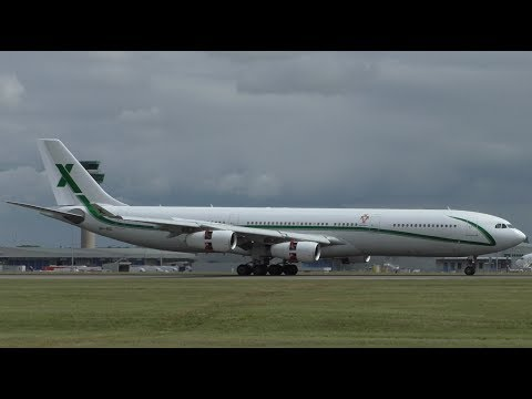 Air X Charter A340-300 9H-BIG at Stansted Airport
